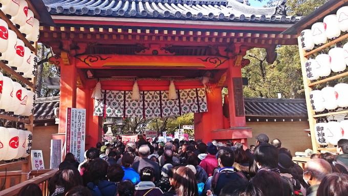 2016西宮神社の正門、通称「赤門」