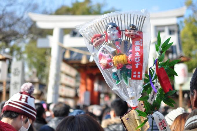 2016十日戎の西宮神社前入場制限