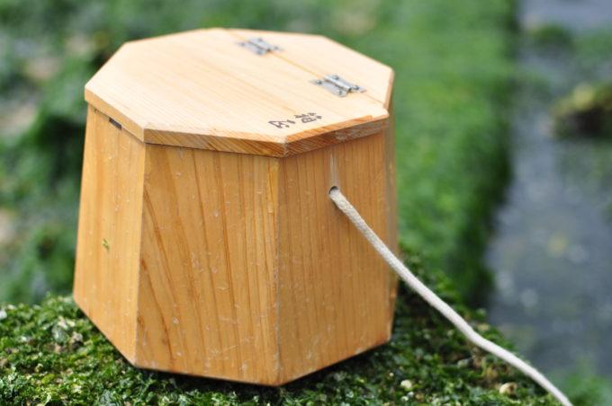 箱正作 木製八角エサ桶