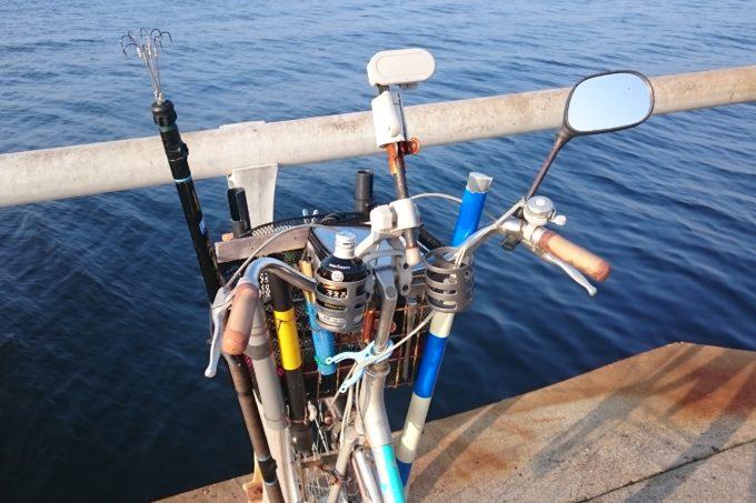 釣り仕様に改造された自転車