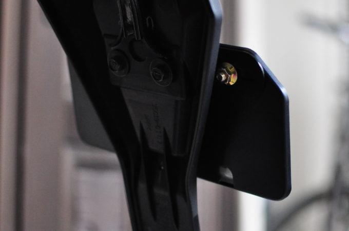 ポッシュ アルミナンバープレートホルダー 山型Sサイズ (50cc~125cc) ブラック 500192-06