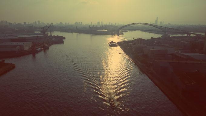 なみはや大橋からの景色