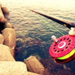 雨後の濁りに期待して尼崎湾奥テトラで際穴釣りをしてきました