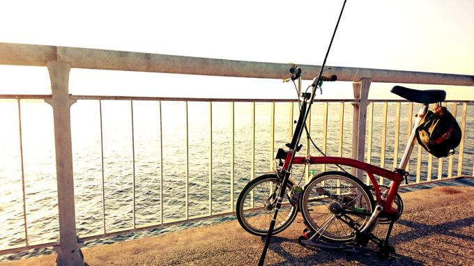 甲子園浜とブロンプトンM3L