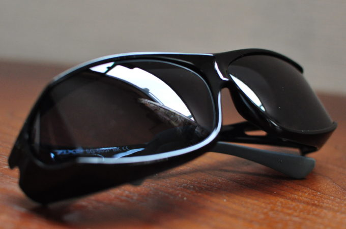 AXE(アックス) オーバーサングラス 偏光レンズ シャイニーブラック×スーパースモーク SG605P-BK-SSM