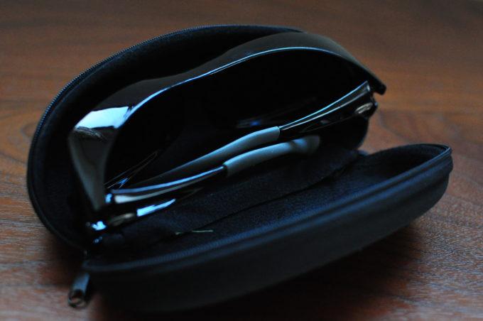 ジェーシー サングラス用メガネケース フック付き ブラック H-72