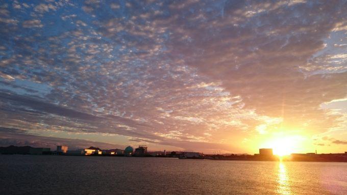 旧岡山港で見たウロコ雲