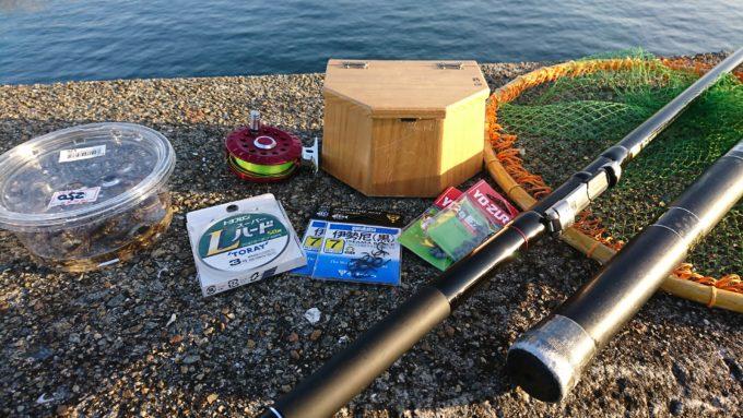 際穴釣りの仕掛けに必要な道具