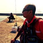 神戸第六防波堤でふくまる大将さんと一緒に釣りをしてきました