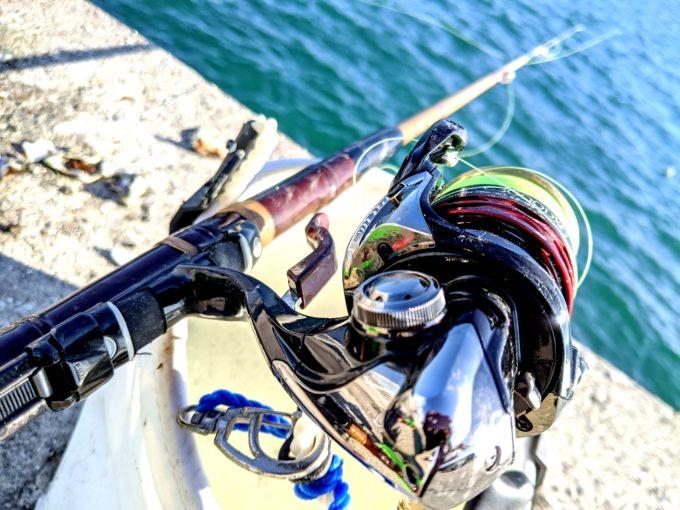 牡蠣のかぶせ釣り