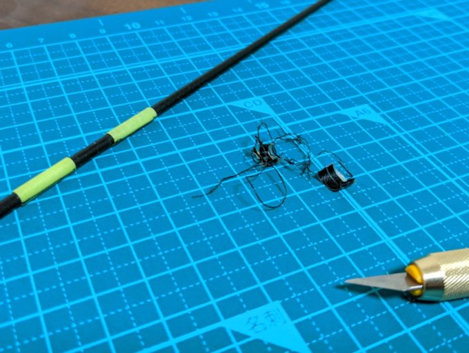 破損した落とし込み・前打ち竿のUガイドを自分で交換する方法
