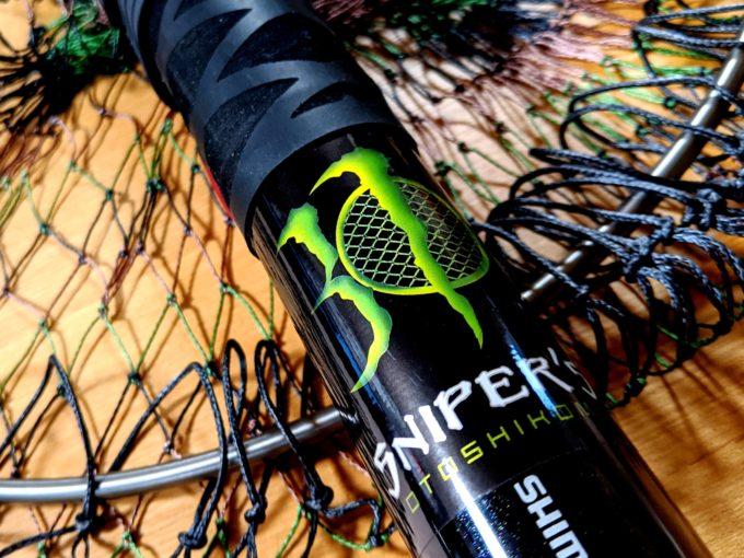 チタンシステム 64チタン ワンピース 玉枠 + PE10号 手編み タモ網 セット (迷彩柄, 30cm)